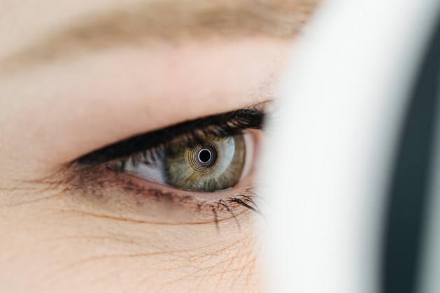 Zbliżenie na badane oko